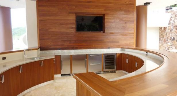 Teak Bar Project St John - Blue Fin Home Builders